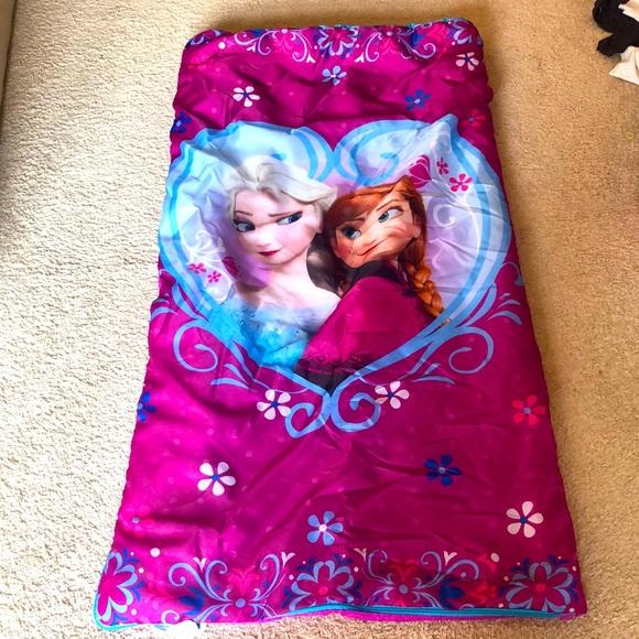 Frozen sleeping bag/blanket
